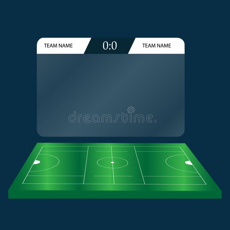 Lacrosse Football Soccer Scoreboard Chart. Digital background vector illustration vector illustration