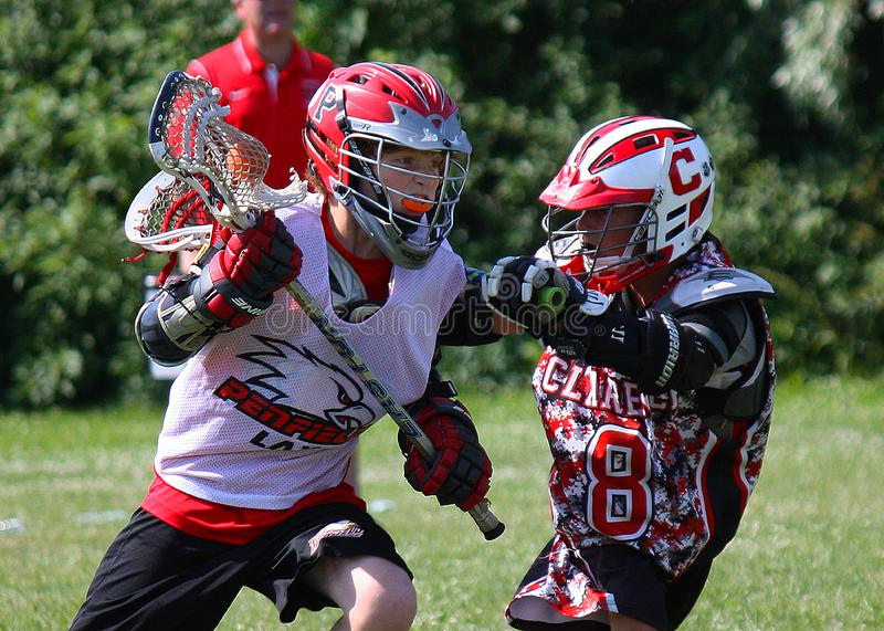 Lacrosse game stock photography