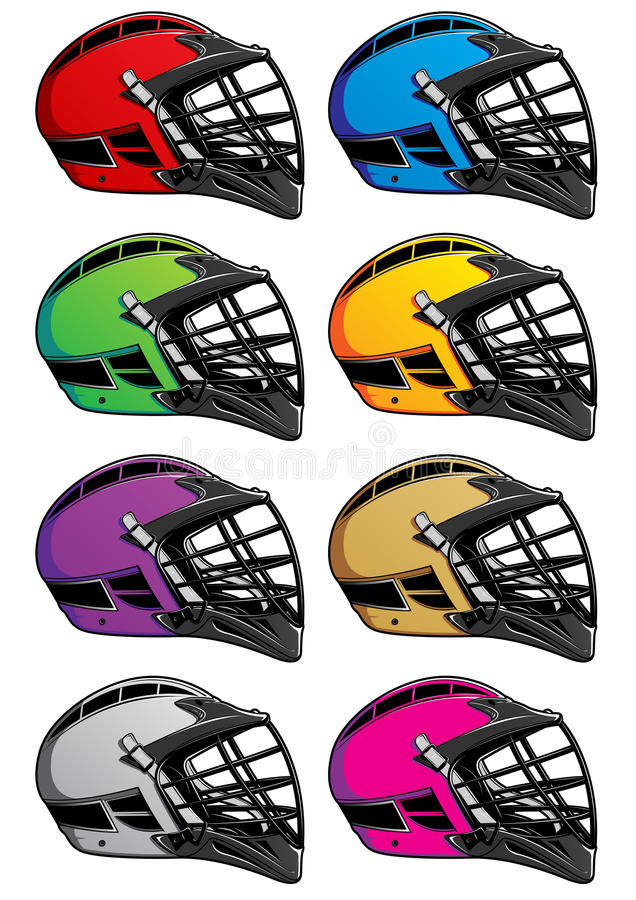 Download Lacrosse Helmets Icons EPS stock vector. Image of silver - 13967519