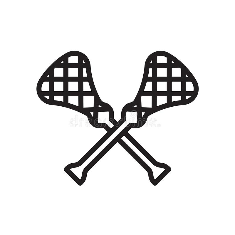 lacrosse icon isolated on white background stock illustration