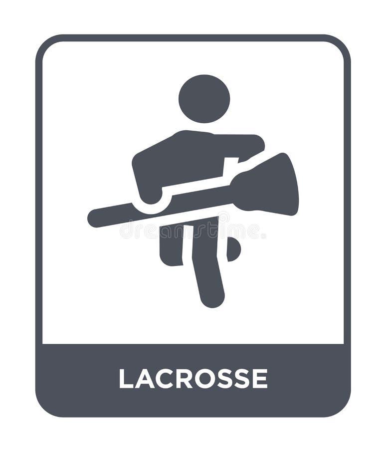 lacrosse ikona w modnym projekta stylu lacrosse ikona odizolowywająca na białym tle lacrosse wektorowej ikony prosty i nowożytny  royalty ilustracja