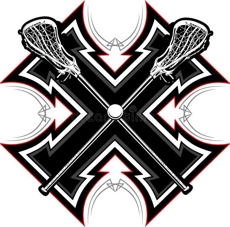 Lacrosse klibbar diagrammallen vektor illustrationer