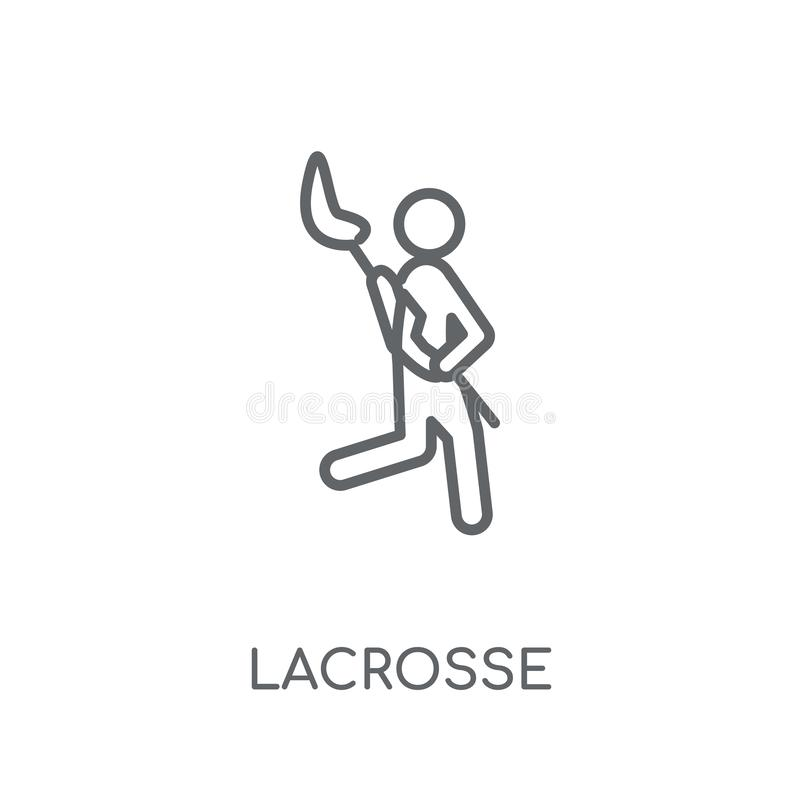 Lacrosse linear icon. Modern outline Lacrosse logo concept on wh royalty free illustration