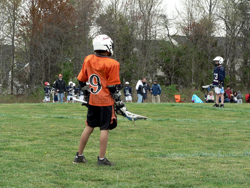 Lacrosse - little league game royalty free stock photos