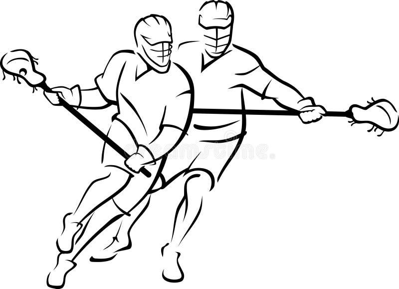 Lacrosse Match royalty free illustration