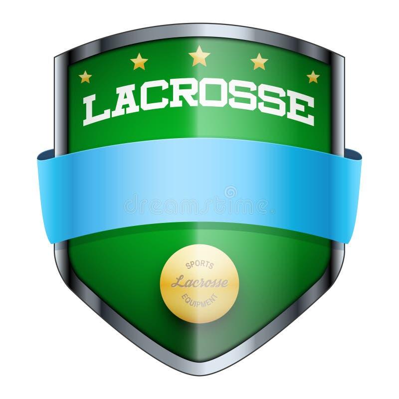 Lacrosse osłony odznaka ilustracja wektor