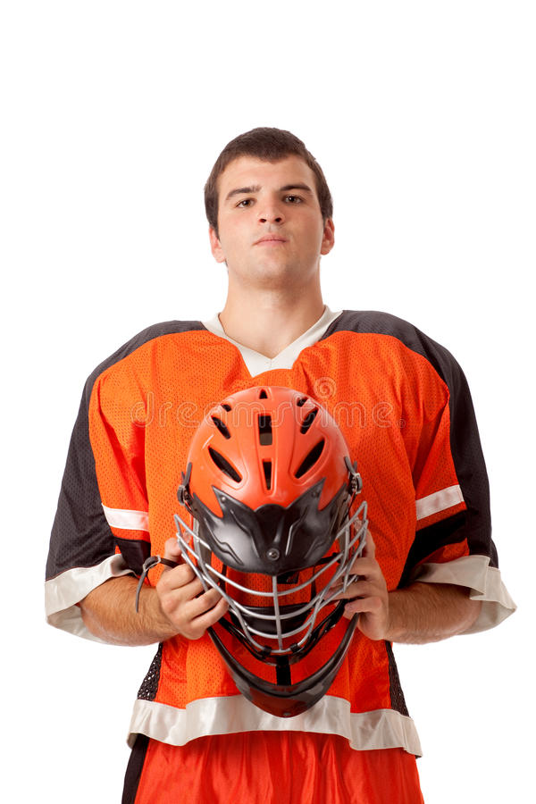 Lacrosse Player stock photography