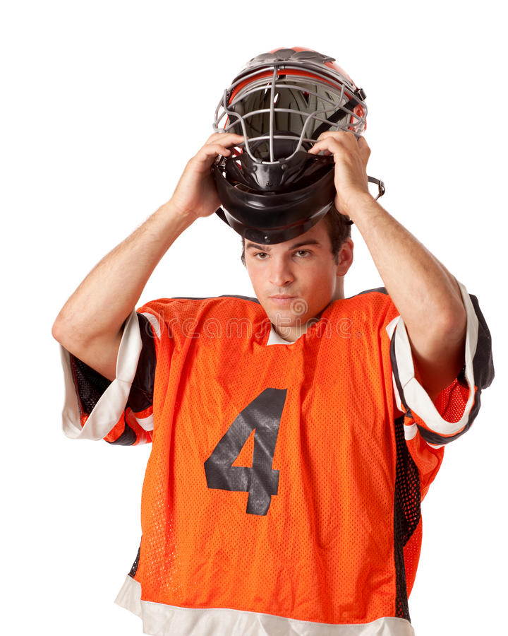 Lacrosse Player royalty free stock photo