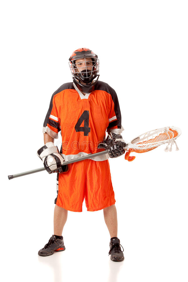 Lacrosse Player royalty free stock images