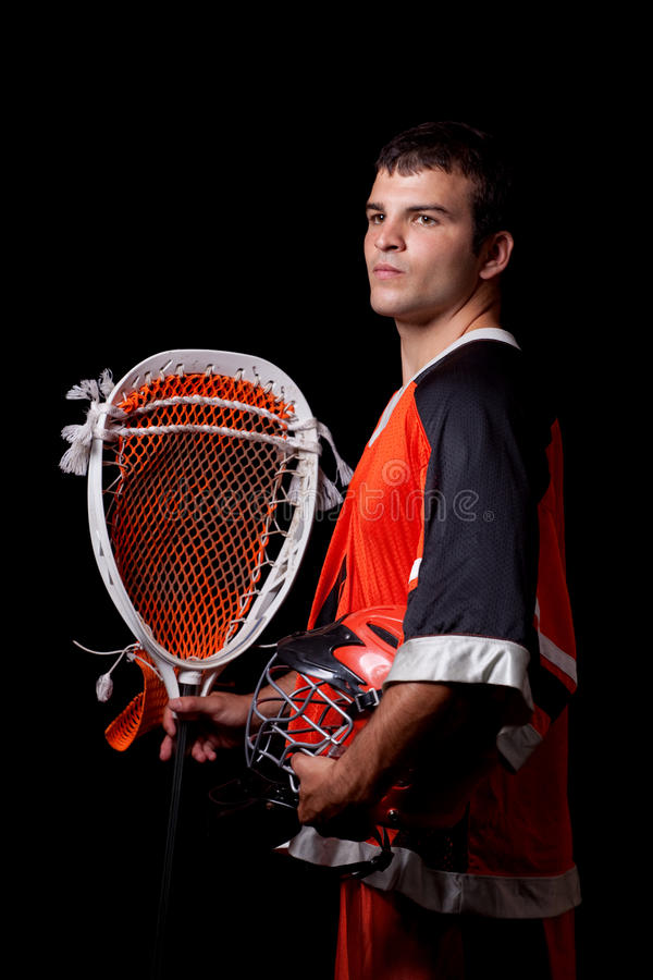 Lacrosse Player royalty free stock image