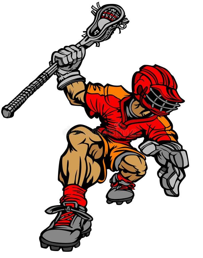 Lacrosse Player Cartoon Vector Image. Vector Lacrosse Player Cartoon Image vector illustration