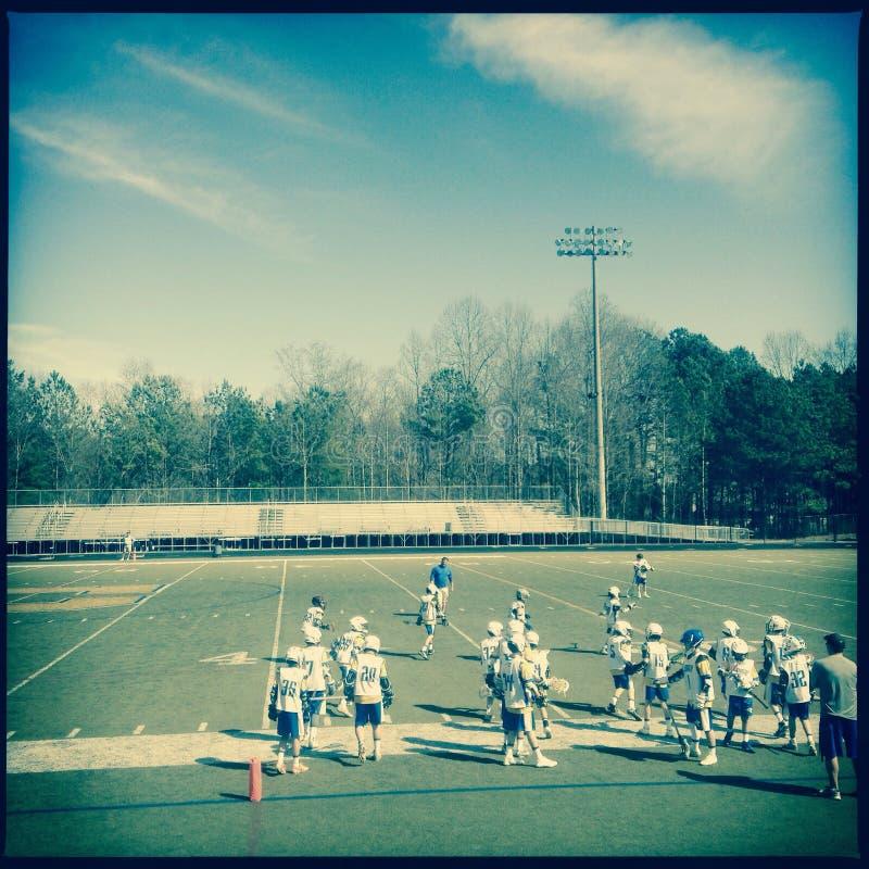 Lacrosse praktyka fotografia royalty free