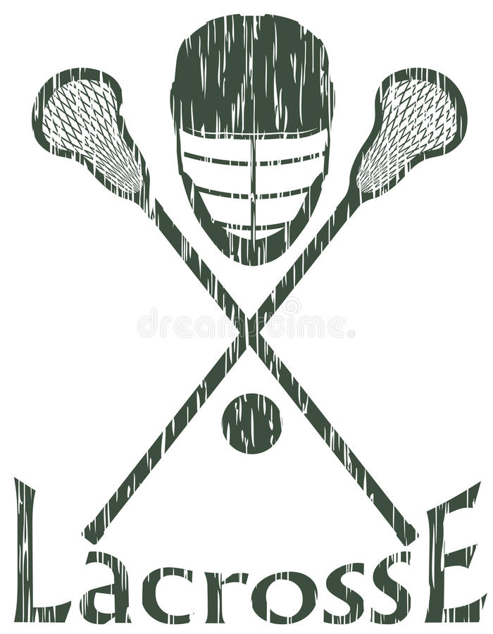Lacrosse sport concept vector illustration stock illustration
