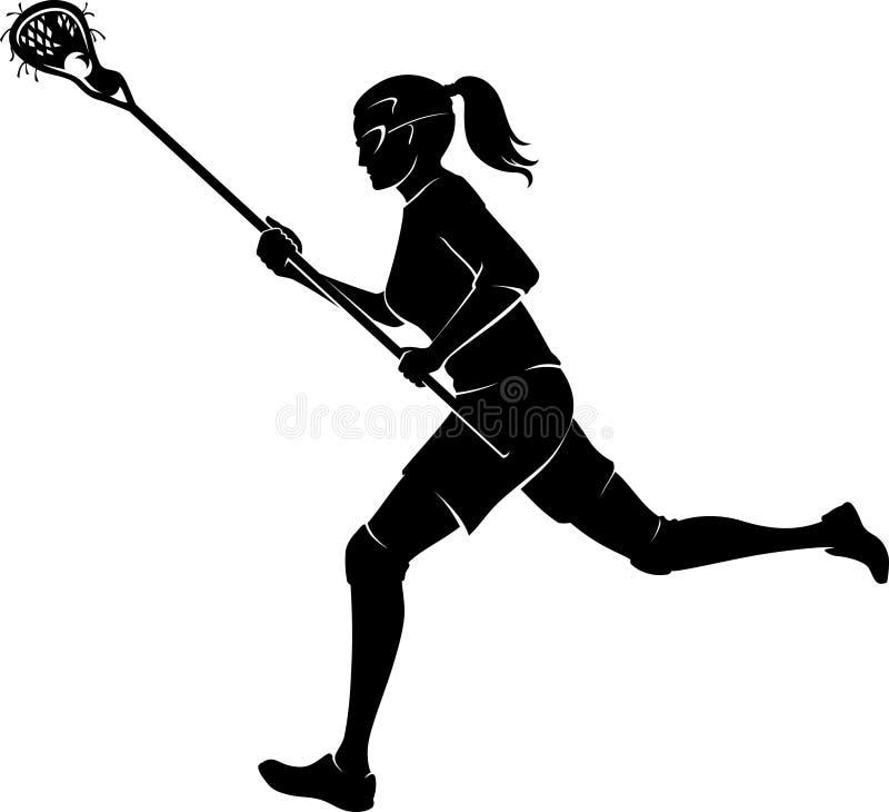 Lacrosse Sport Female stock illustration