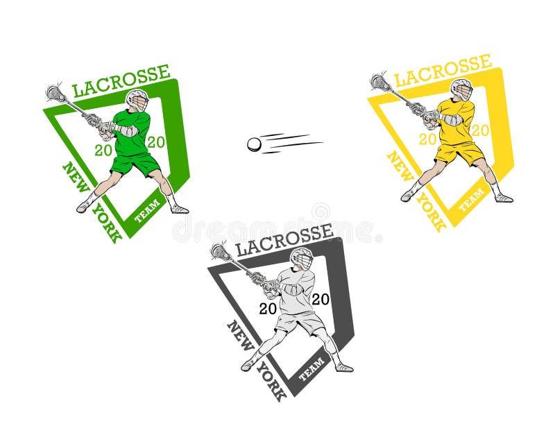 Lacrosse sport logo vector illustration