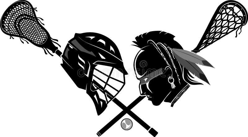 Lacrosse Sport, Now Versus the Past Origins vector illustration