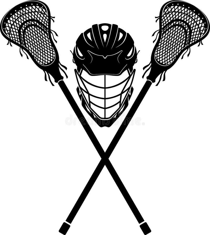 Lacrosse Sports Equipment royalty free illustration