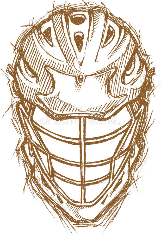 Lacrosse-Sturzhelm-Skizze lizenzfreie abbildung