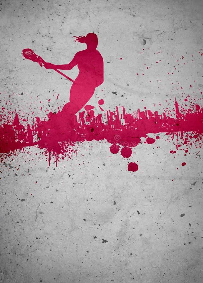 Lacrosse tło ilustracja wektor