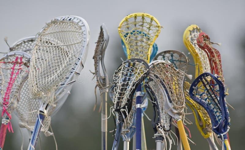 Lacrosse team spirit stock image