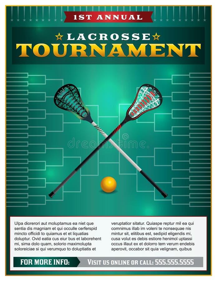 Lacrosse Tournament Flyer Template vector illustration