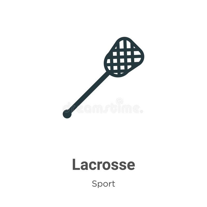 Lacrosse vector icon on white background. Flat vector lacrosse icon symbol sign from modern sport collection for mobile concept stock illustration