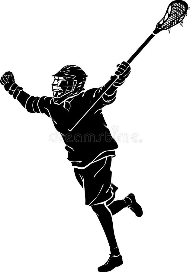 Lacrosse Win royalty free illustration