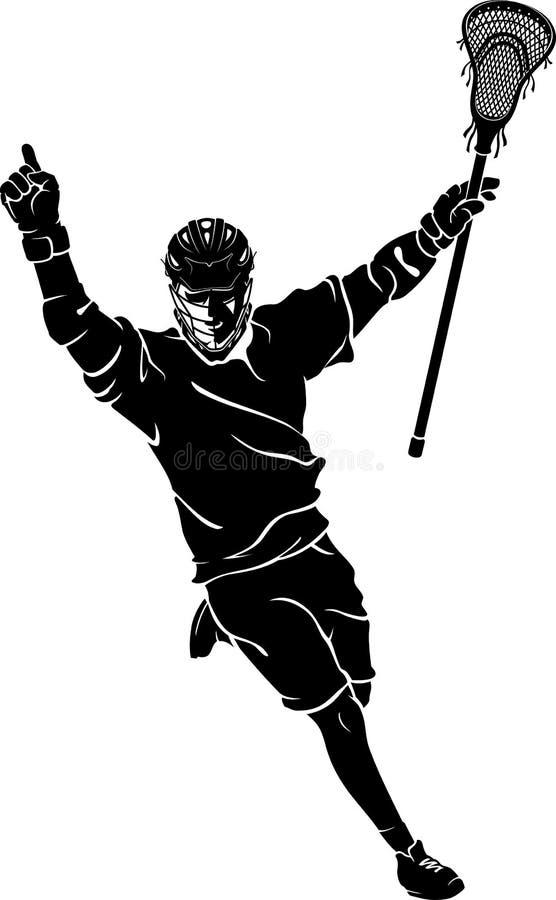 Lacrosse Winning Pride stock illustration