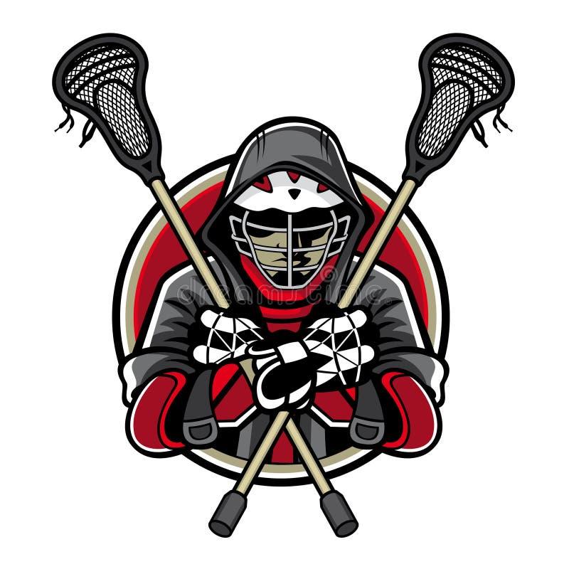 Lacrossemaskot vektor illustrationer