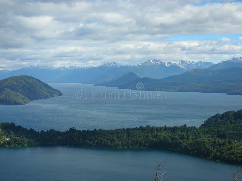 7 lacs, Bariloche, Patagonia, Argentine. images libres de droits
