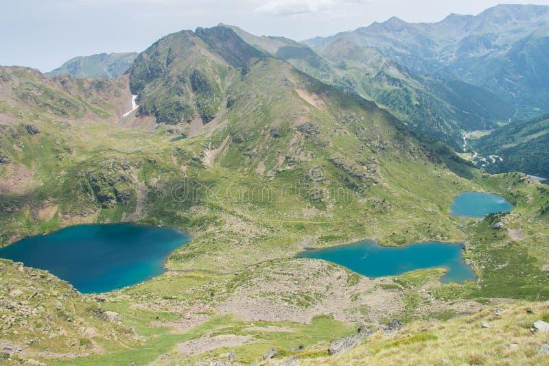 Lacs en Andorre photo stock