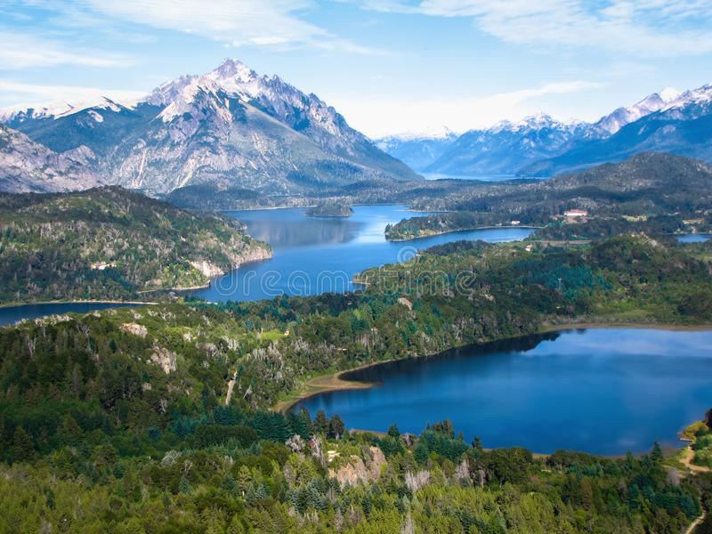Lacs et Mountain View, Argentine, Patagonia, Amérique du Sud photo stock