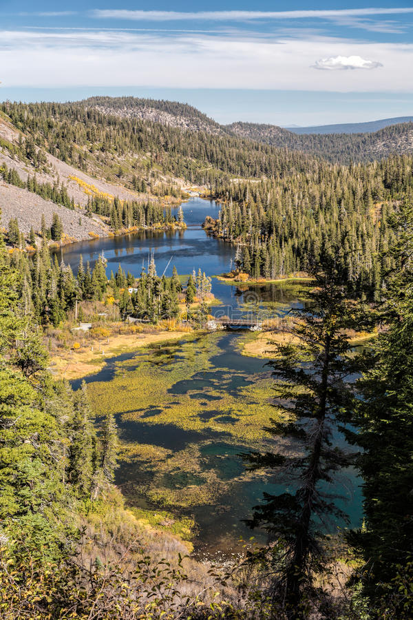 Lacs jumeaux photo libre de droits