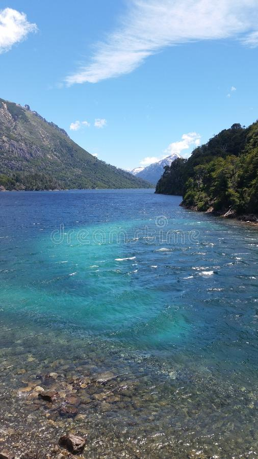 Lacs Patagonia images stock