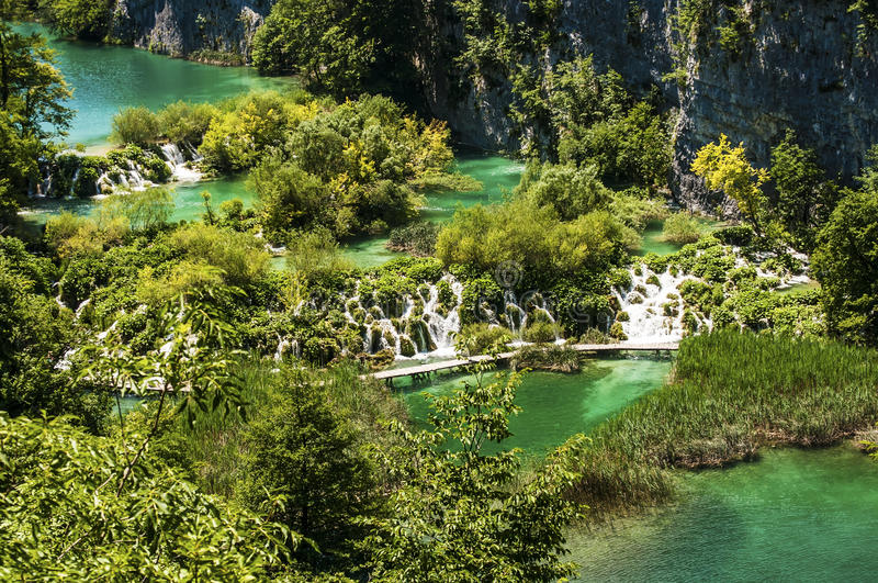 Lacs Plitvice de parc national, Croatie images stock