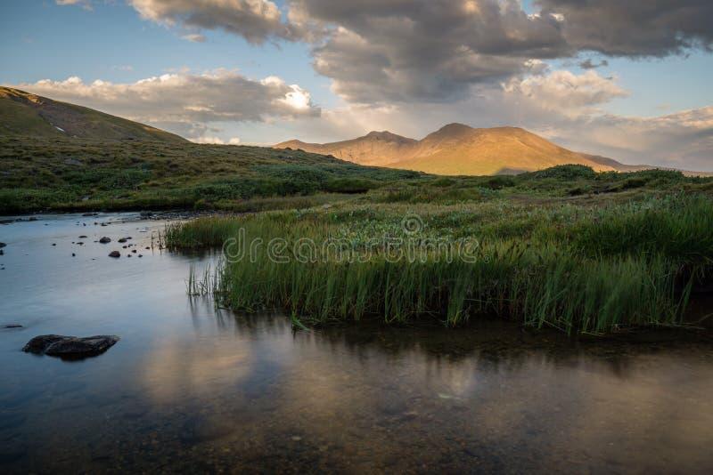Lacs supérieurs carrés - le Colorado photographie stock
