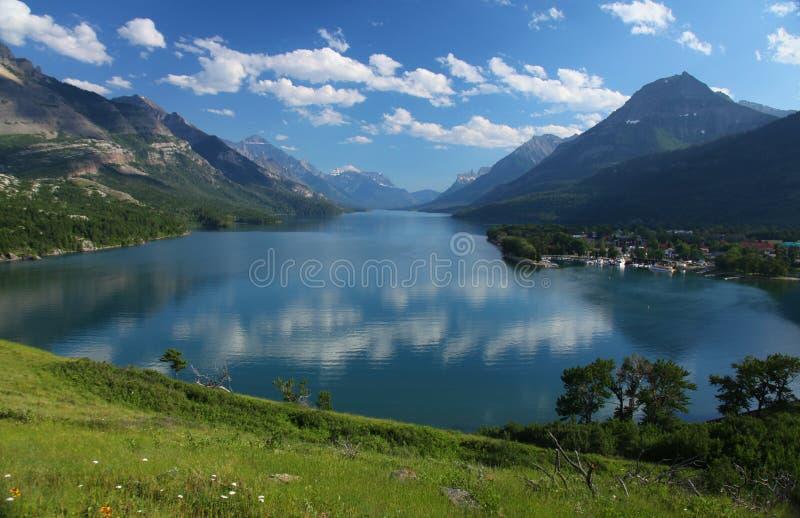 Lacs Waterton dans le Canada images stock