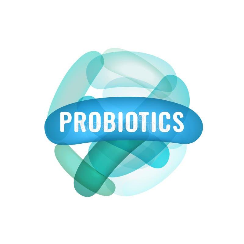 Lactobacillus Probiotics Logotype vector illustratie