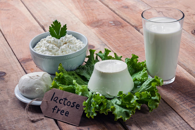 Lactose free intolerance stock image