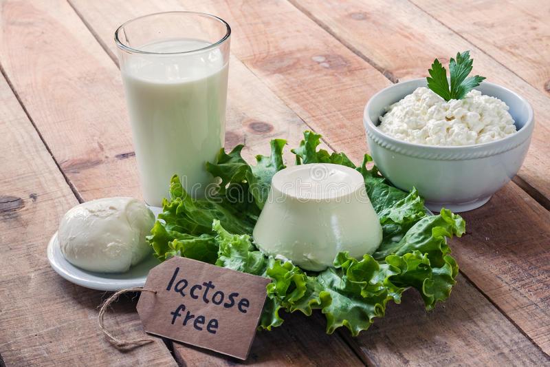 A lactose livra a intolerância imagem de stock royalty free