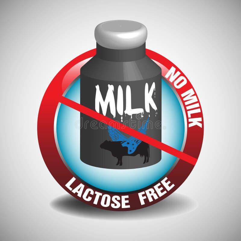 A lactose livra o sinal ilustração royalty free