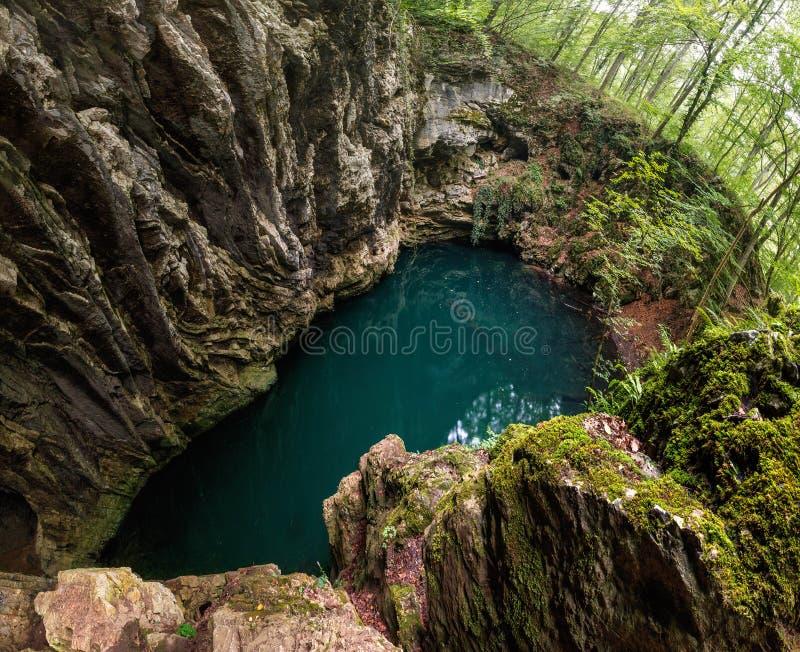 Lacul Dracului in Romania stock images