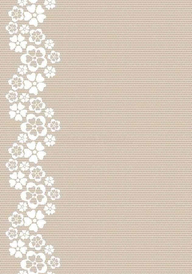 Lacy flower border. vector illustration