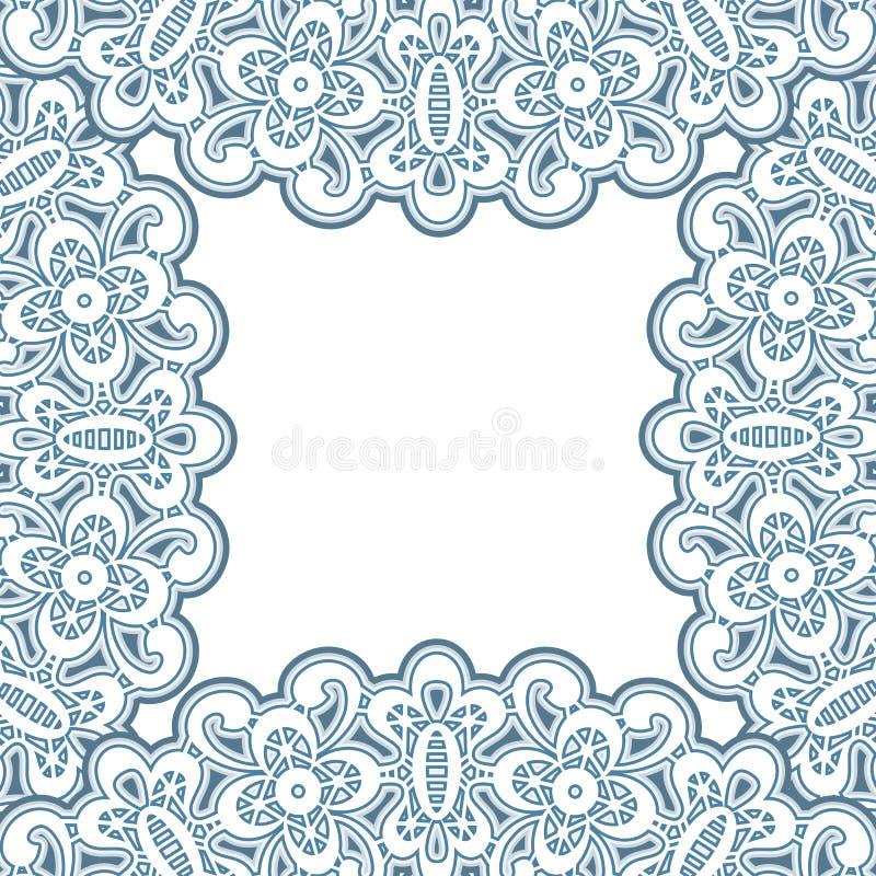 Lacy frame vector illustration