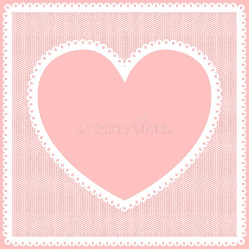 Lacy heart frame stock illustration