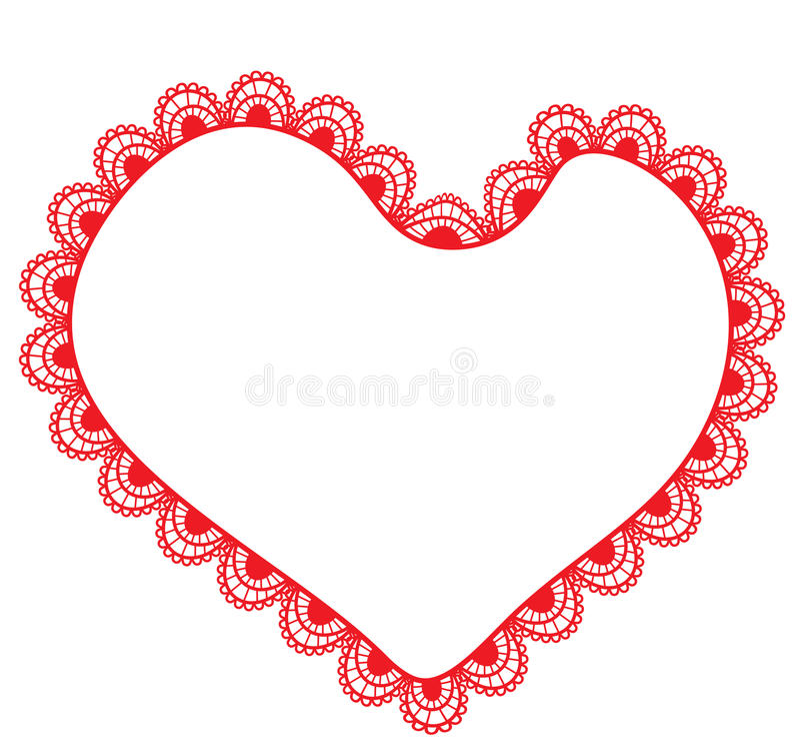 lacy hjärta vektor illustrationer