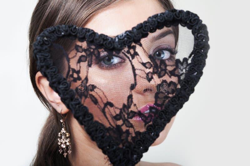 lacy kvinna för härlig hjärta royaltyfri fotografi