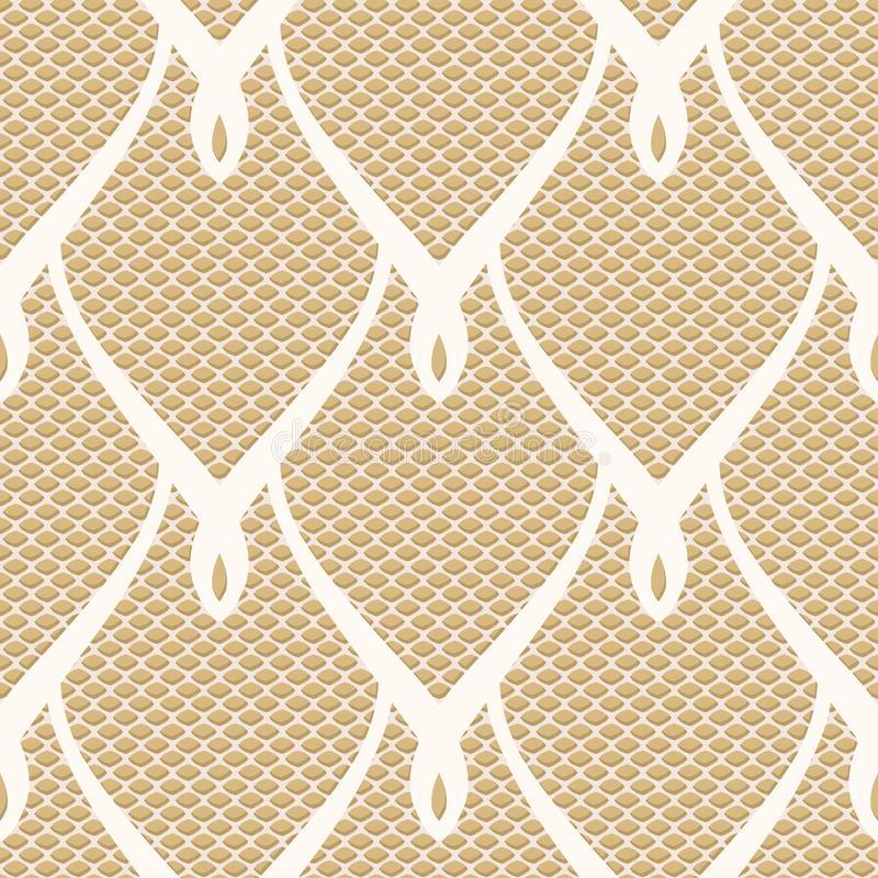 Lacy seamless oriental scales pattern stock illustration