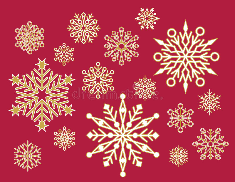 lacy snowflakes vektor illustrationer