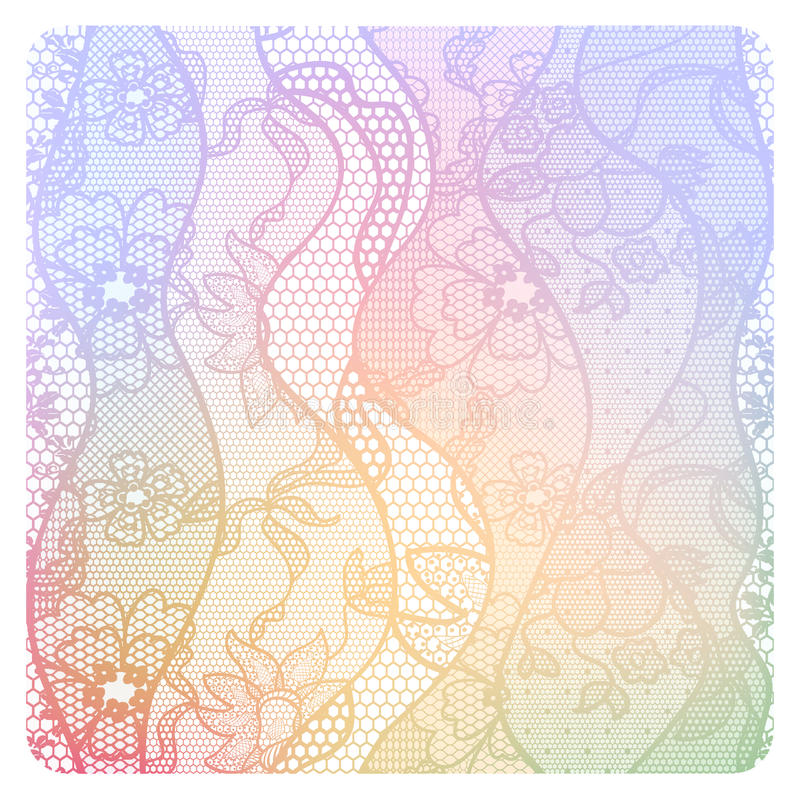 Lacy vintage background in soft colors. royalty free illustration
